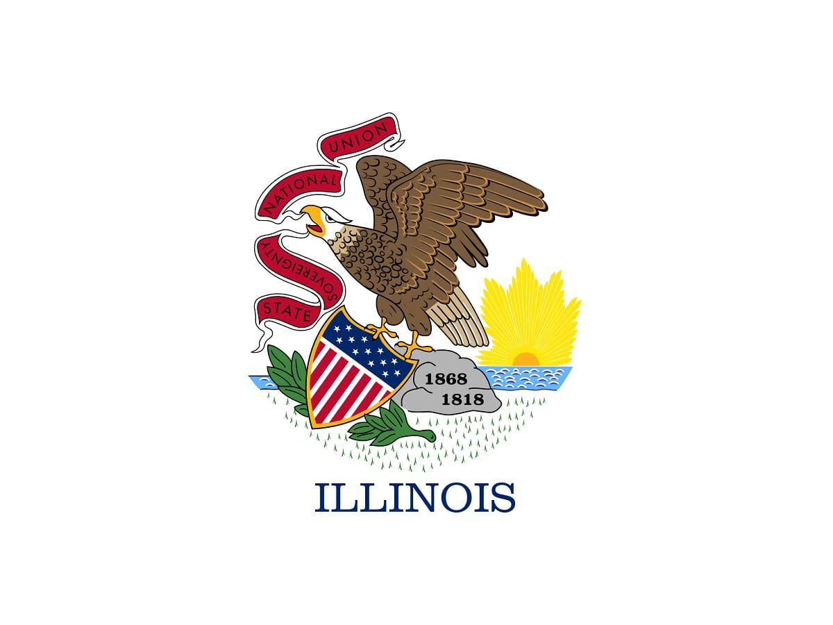 illinois state flag illinois state flag