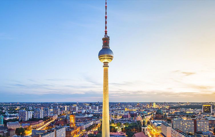 Intercontinental Hotel Berlin city view