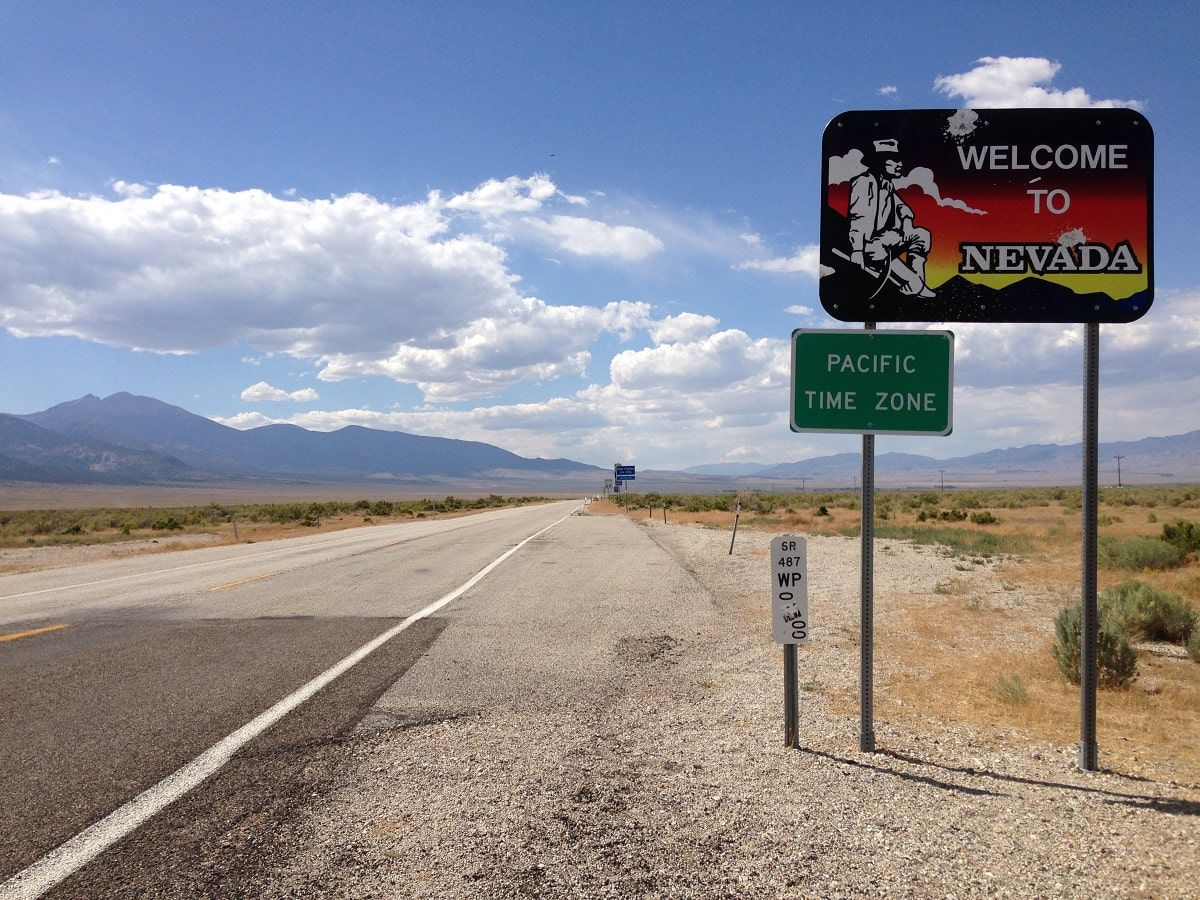 welcome to nevada sign welcome to nevada sign
